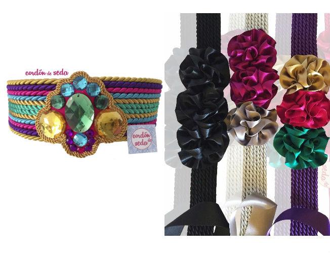 Cinturones y fajines de Cordón de seda
