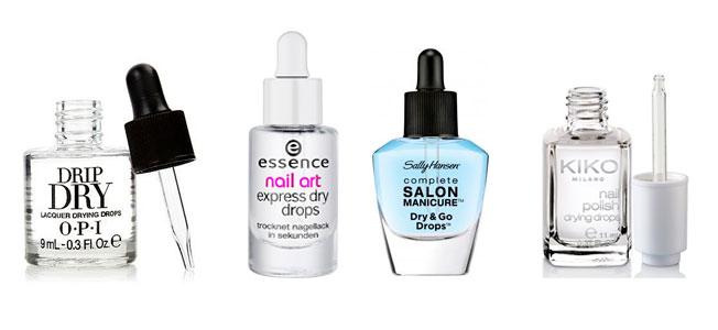 Maquillaje para vagas: gotas secantes de uñas