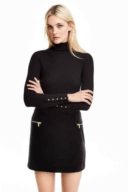 Minifalda de terciopelo de H&M