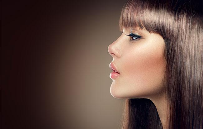 Mujer con pelo negro y ojos oscuro que bellesa - 1 4