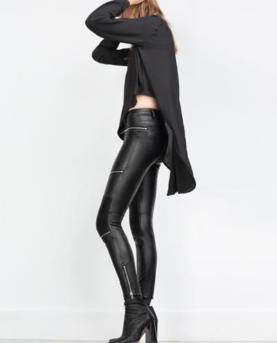 Pantalón de cuero de Zara