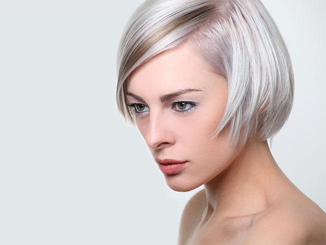 Diferentes cortes de cabello en geometria