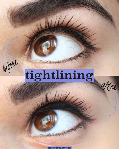 Diez formas de pintarse los ojos: tightlining