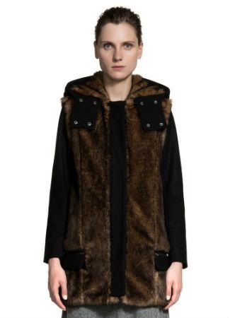 Abrigo de pelo y lana de Bimba y Lola