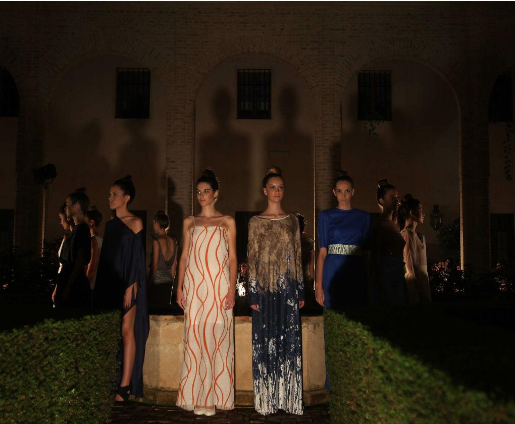 Desfile de Balbina Arias en la XIII Andalucía de Moda. Colección Pale Blue Dot. Raúl Doblado