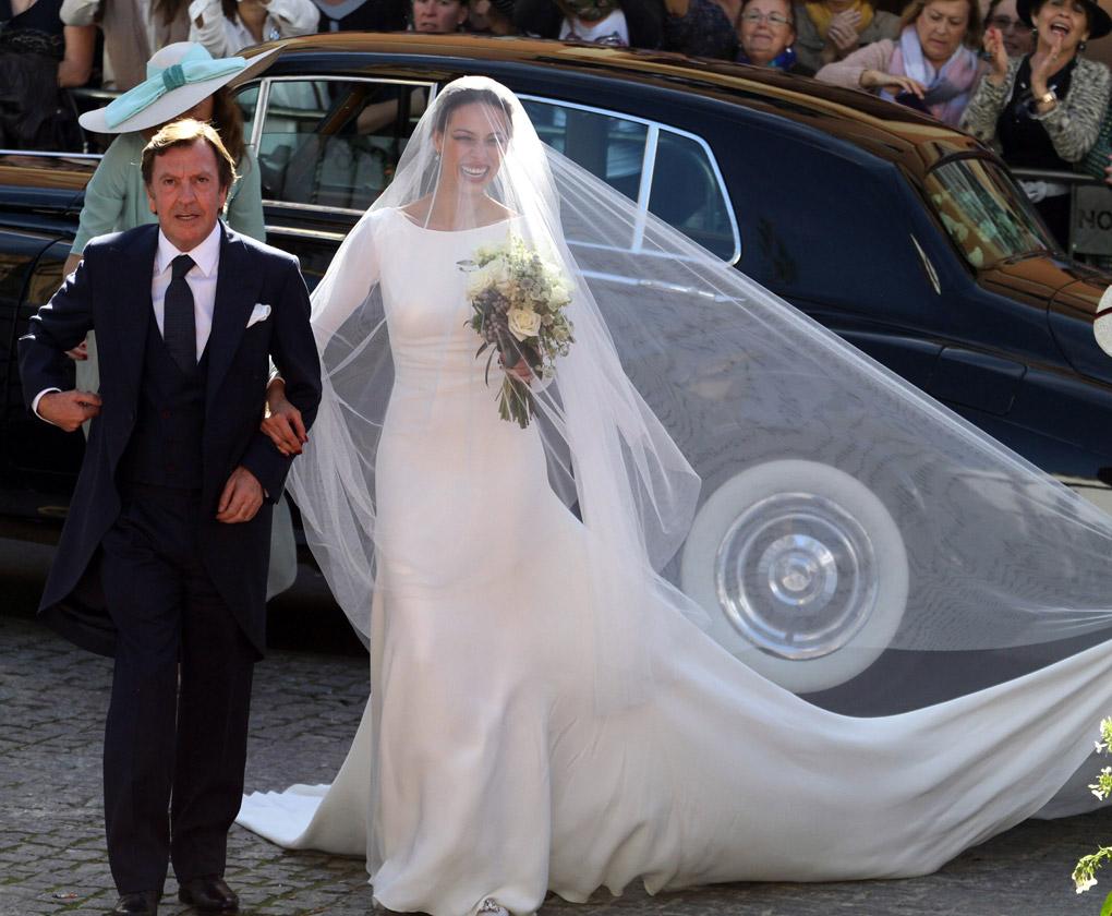 Así es el vestido de novia de Eva González - Bulevar Sur