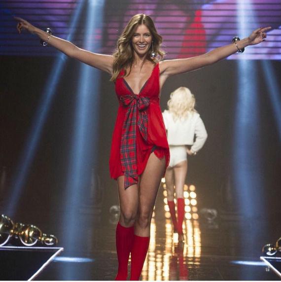 Desiré Cordero en el desfile de Women's Secret en Madrid. Facebook Francina Models