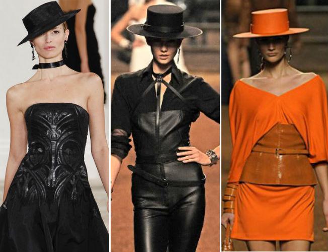 Ralph Lauren, Hermés y Jean Paul Gaulter en colecciones han presentado sombreros de ala ancha. Archivo