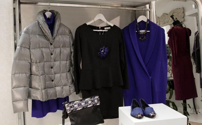 Prendas de punto de Sita Murt, cuerpo y falda de La Fabrique y abrigo pluma de Annie P