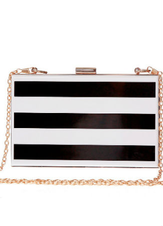 Clutch de rayas de The Code