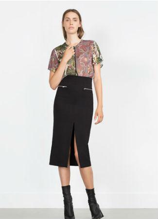 Falda de tubo de Zara
