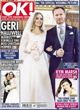 Geri Halliwell en su boda. OK!