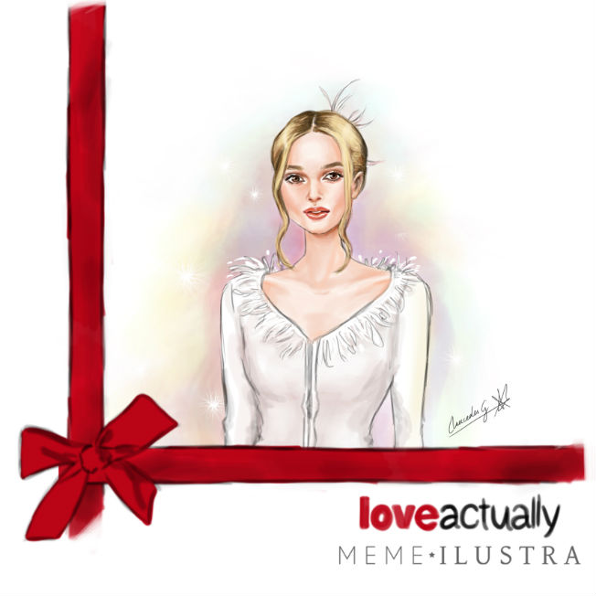 Keira Knightley en Love Actually, Ilustración de Mercedes Galán