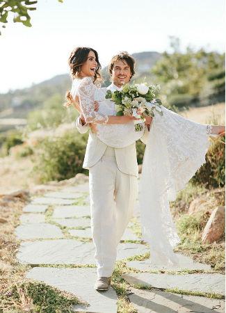 Nikki Reed en su boda. Instagram