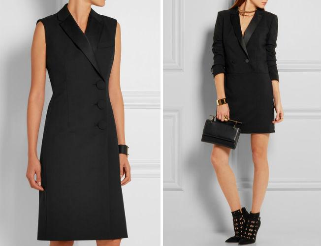 Vestido-Blazer de Balenciaga y DKNY