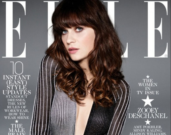 Flequillo largo Zooey Deschanel