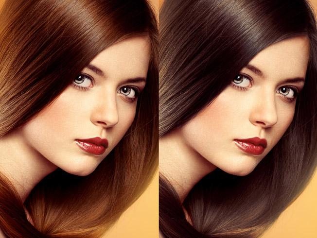 Fotos color pelo marron chocolate