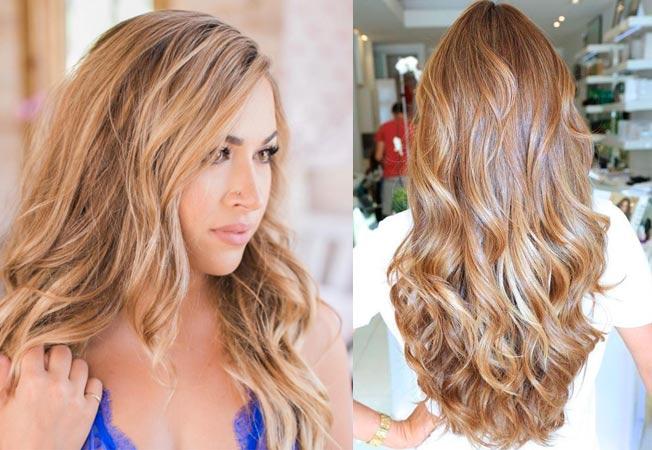 Rose Gold bronde (o strawberry bronde) igual que el «pink blonde» se ha convertido en tendencia, hay una versión del bronde que mezcla reflejos rosas con