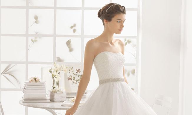 Peinado para vestido novia encaje