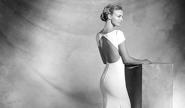 peinado vestido novia espalda semi abierta