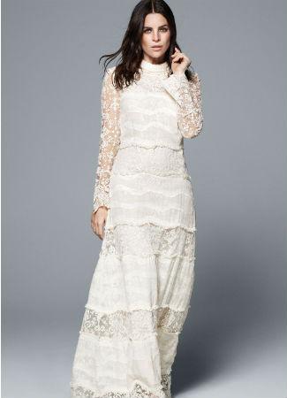 Vestido de novia low cost de H&M