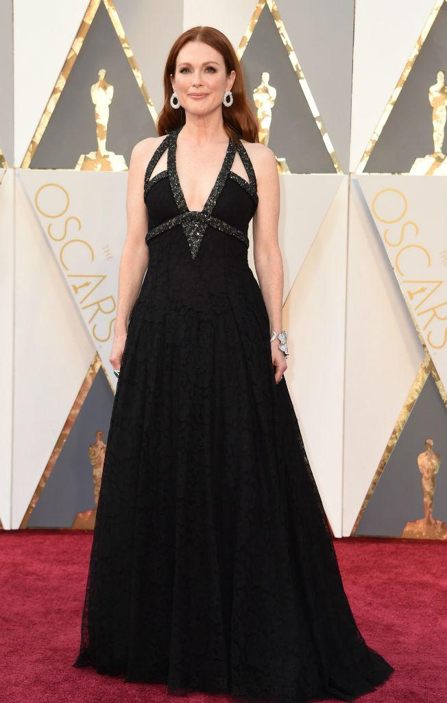 Julianne Moore en los Oscar 2016. AFP