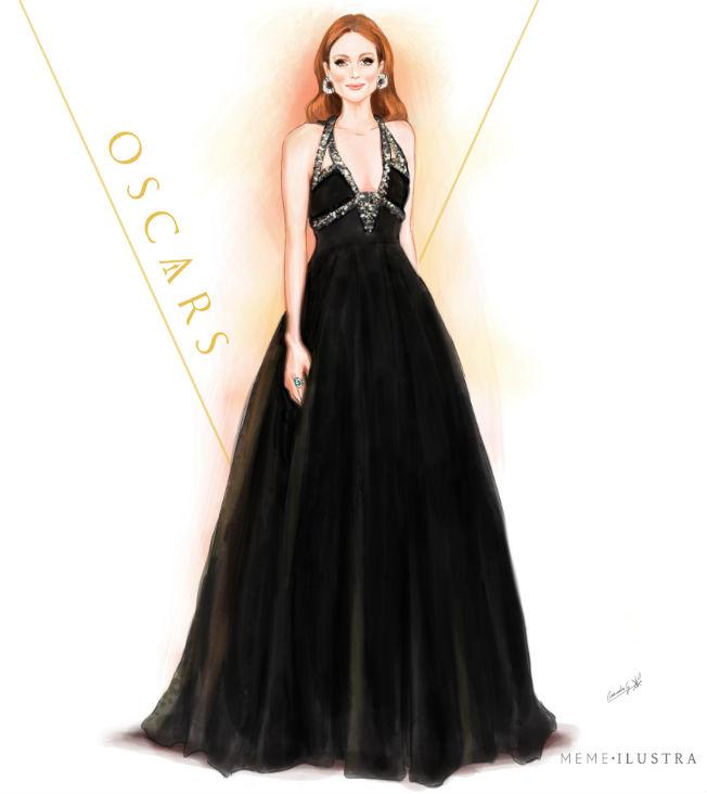 Julianne Moore en los Oscars 2016 por Mercedes Galán