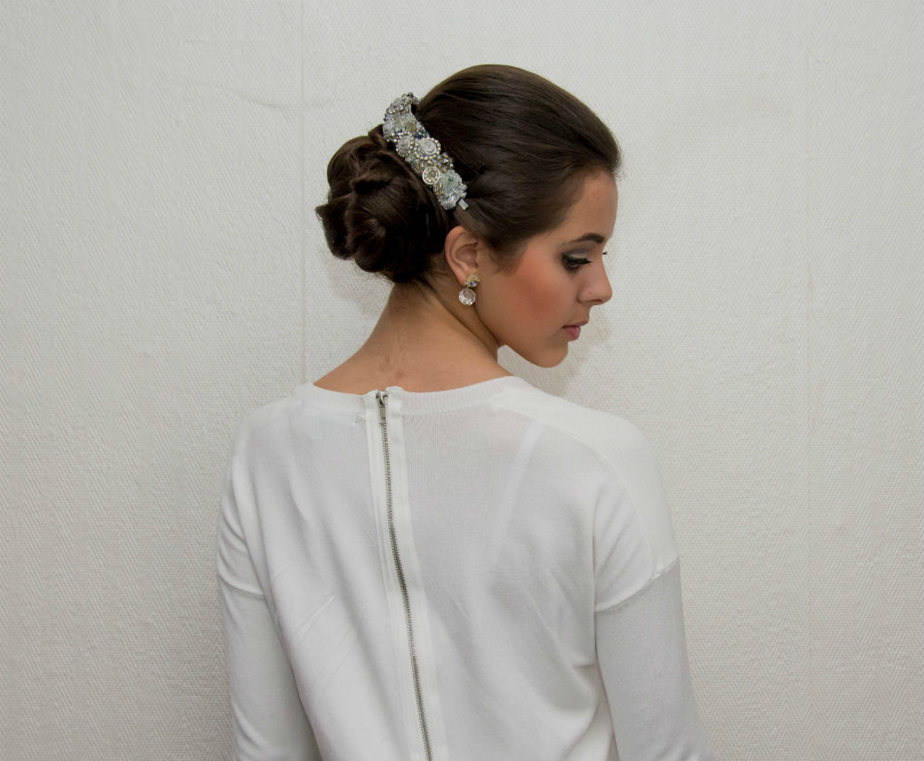 Peinados novia para vestido romantico