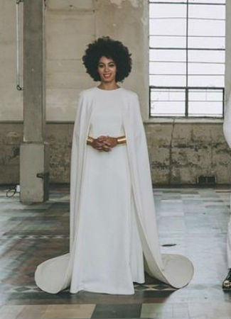 Vestido de novia de Solange Knowles