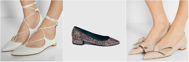 Novias que eligen como zapato para su boda unas bailarinas planas