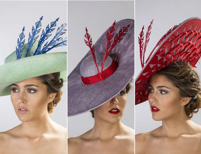 Propuestas de sombreros y tocados de Eugenia Jiménez para la primavera-verano 2016