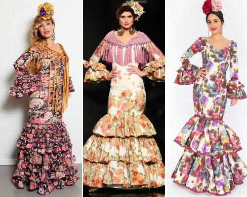 Trajes de flamenca de estampado floral por menos de 350 euros