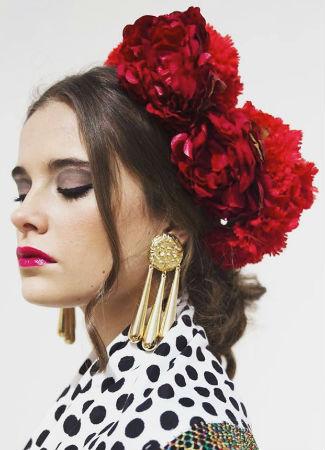 Pendiente de flamenca para ir al Rocío
