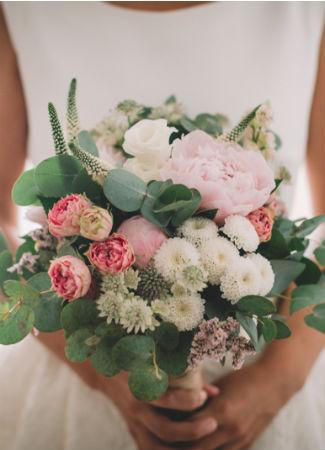 Ramo de novia. Flores en el Columpio