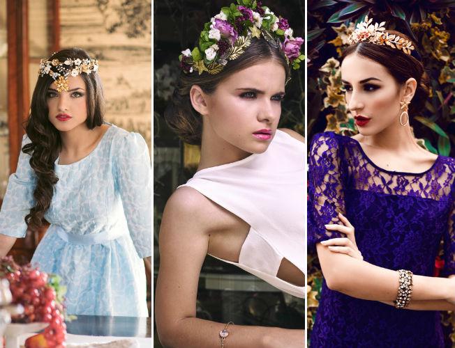 Propuestas de sombreros y tocados de Martina Dorta para la primavera-verano 2016
