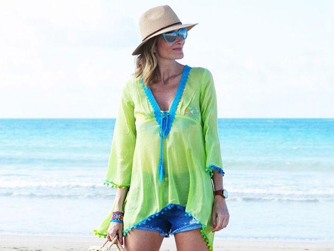 El caftán es la prenda perfecta para la playa