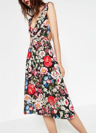 Vestido floral de Zara para el verano 2016