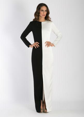 Vestido blanco y negro cherubina