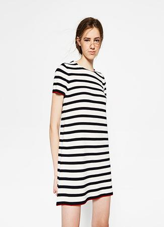 Vestido navy de Zara