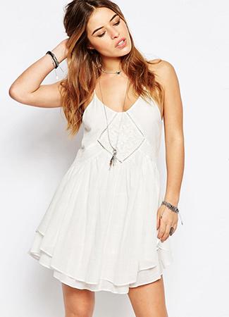 Vestido blanco de Asos