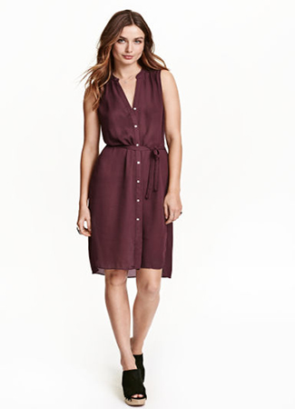 Vestido camisero de H&M