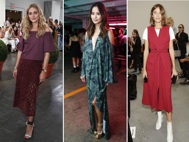 Looks de invitadas VIP en desfiles de la semana de la moda de Nueva York. AFP