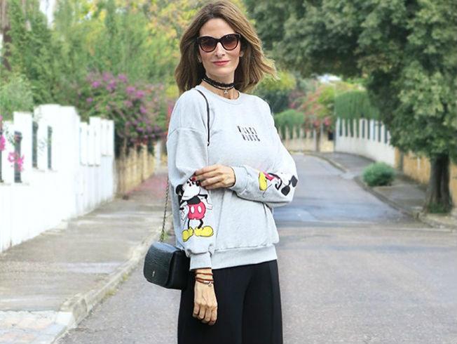 Sudadera de Micky Mouse de Con paso chic