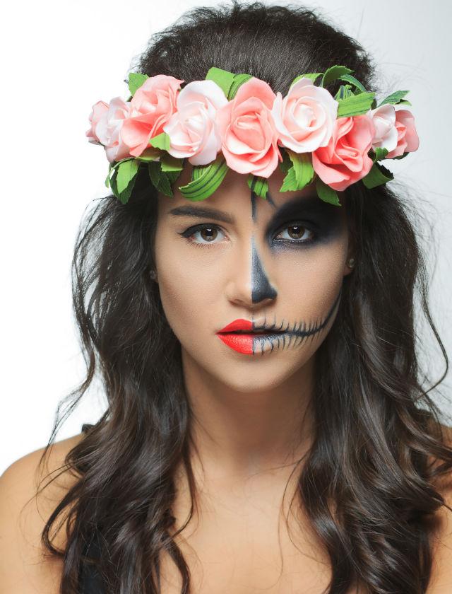 maquillaje para halloween de chica vivachica muerta - Maquillaje Halloween