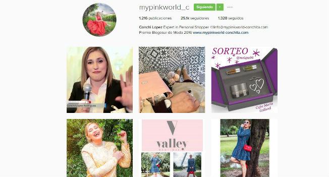 Cuenta de instagram de My Pink World