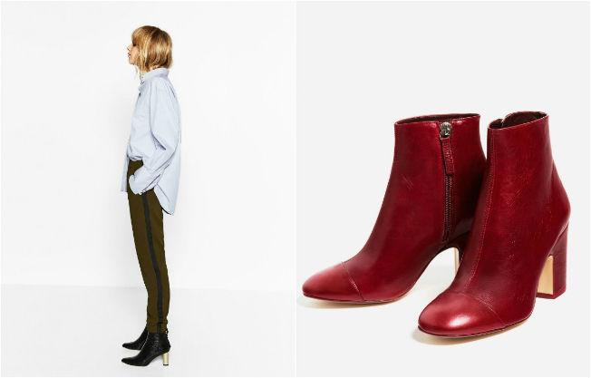 Propuesta de look con pantalón de estilo chándal chic y tacones