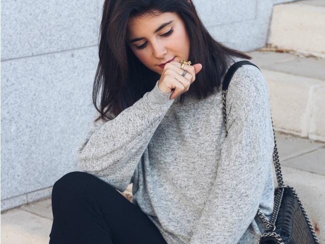 Mariola Valdivia con pantalones de volantes de Zara