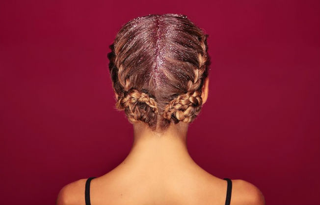purpurina-pelo