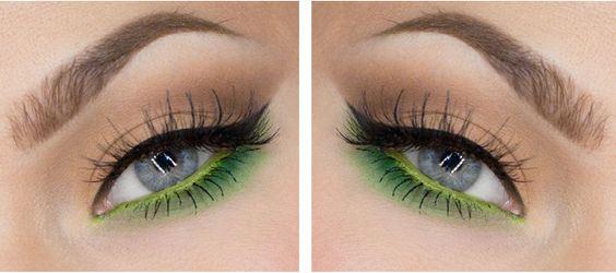Formas de maquillar la línea de agua: waterline con color