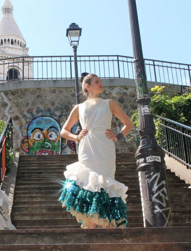 Traje de flamenca de Atelier 109 para una clienta sevillana-parisina
